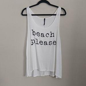 "Triumph ""Beach Please"" Graphic Tank Top Large"